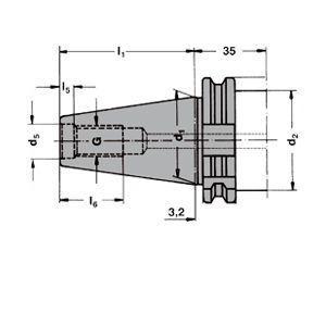 SK40 Ø-27 mm Messerkopf-Aufnahmedorn Form AD//B DIN 69871