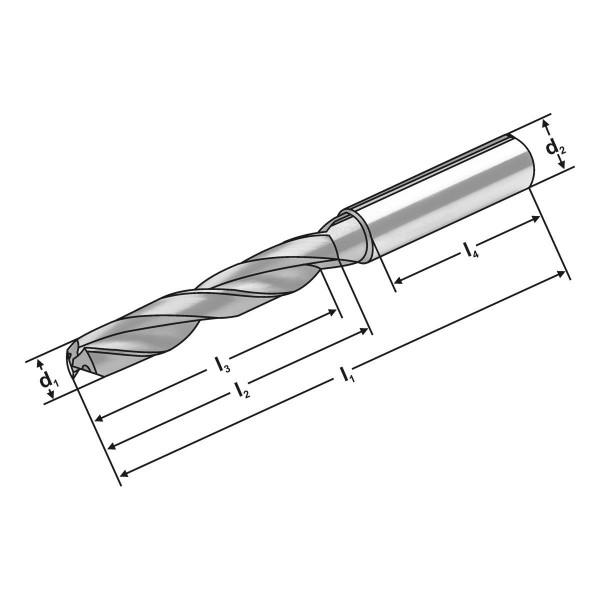 VHM Bohrer 3XD | 12.70  mm