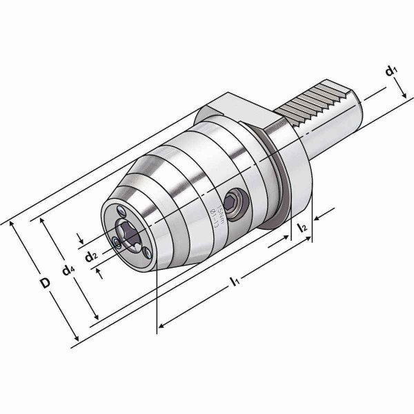 CNC-Bohrfutter 50x1/13-92