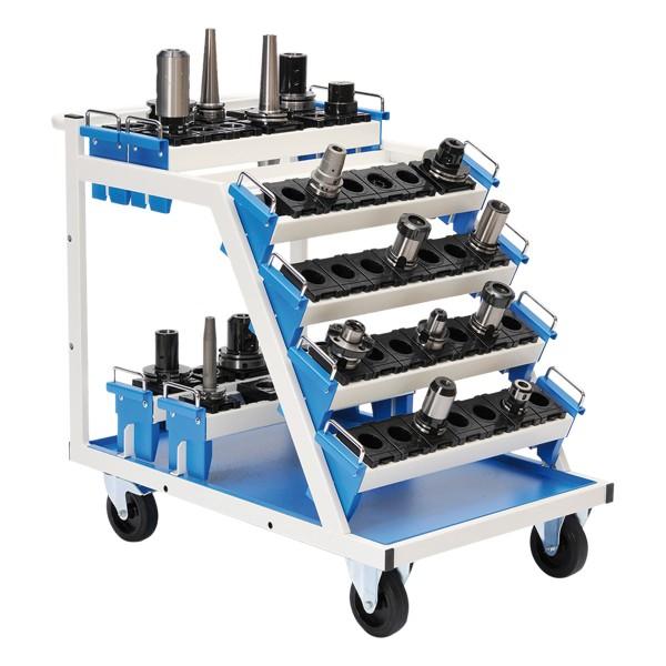 Werkzeugwagen für max 8 CNC Werkzeugaufnahmeträger